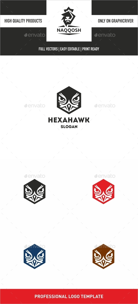 Hexa Hawk - Logo Templates