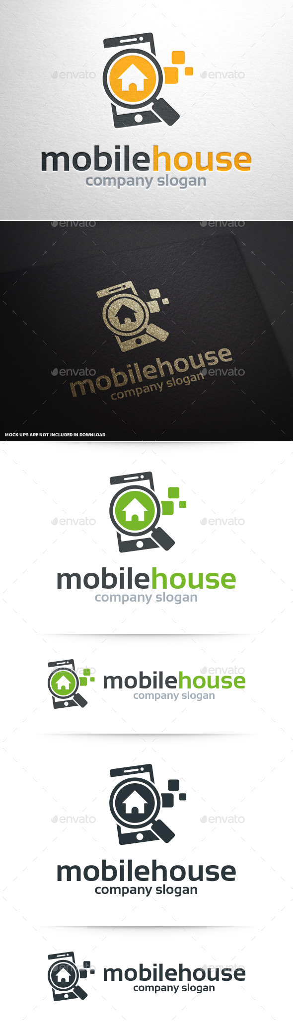 Mobile House Logo Template - Objects Logo Templates