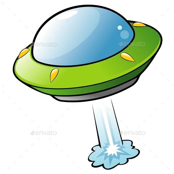 Cartoon Flying Saucer - Miscellaneous Conceptual