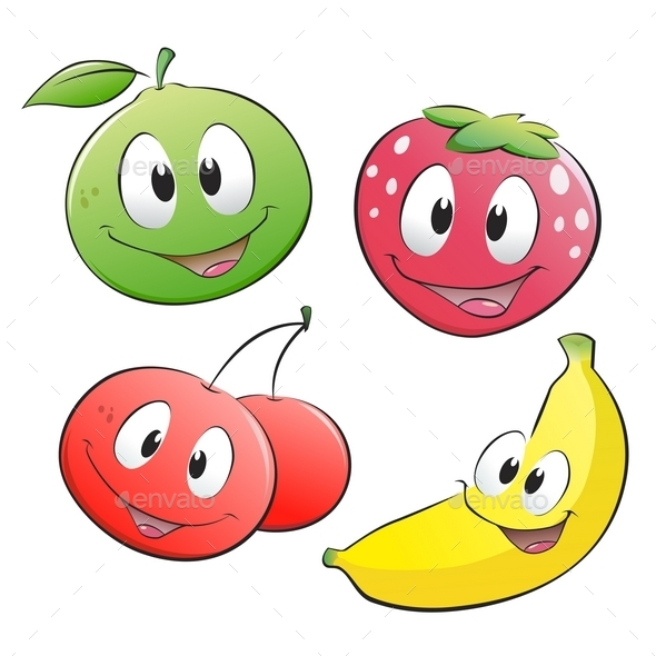 Cartoon Fruits - Flowers & Plants Nature