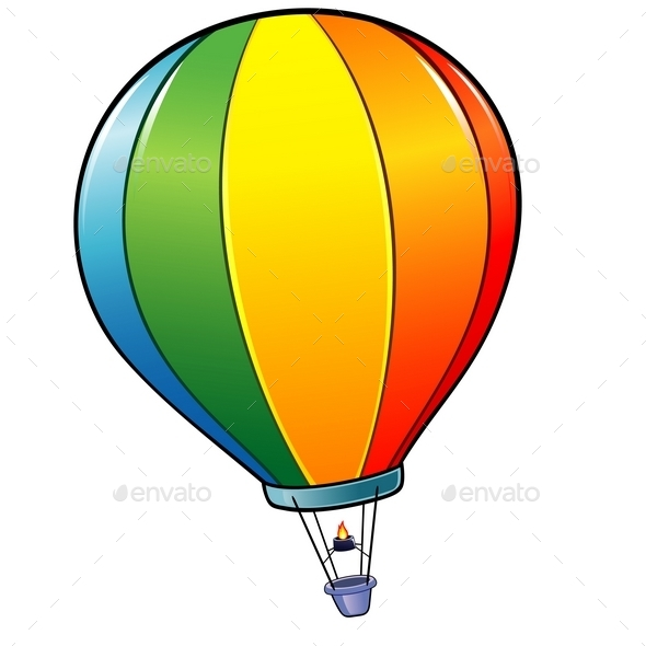Cartoon Hot Air Balloon - Travel Conceptual