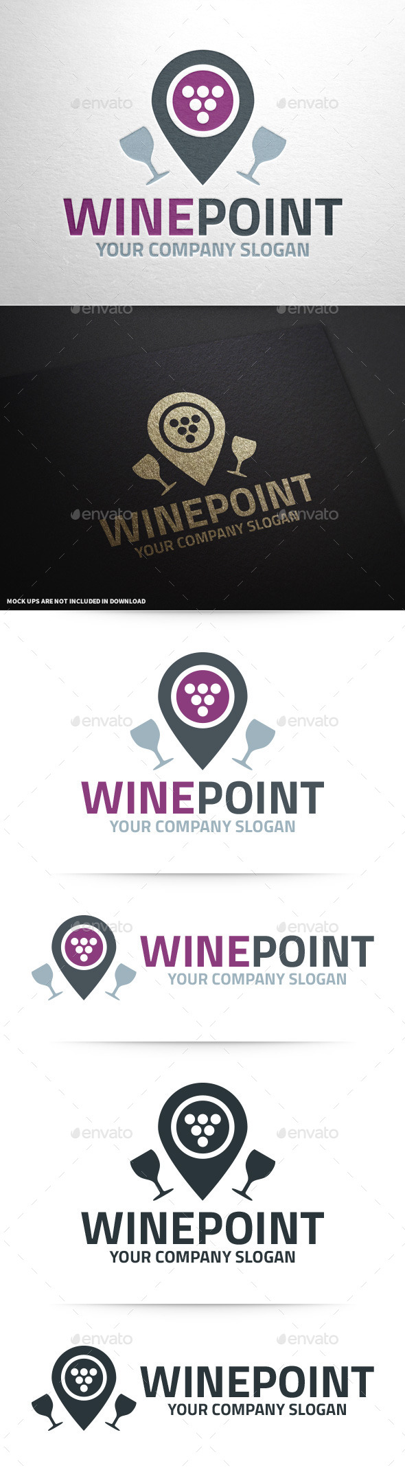 Wine Point Logo Template - Objects Logo Templates