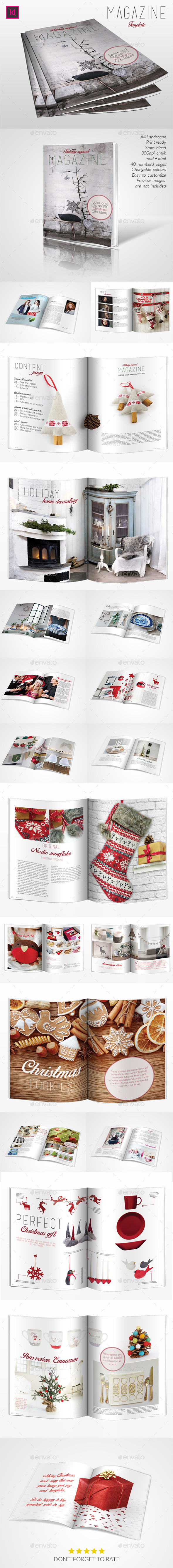 Holyday Inspired Magazine Template - Magazines Print Templates