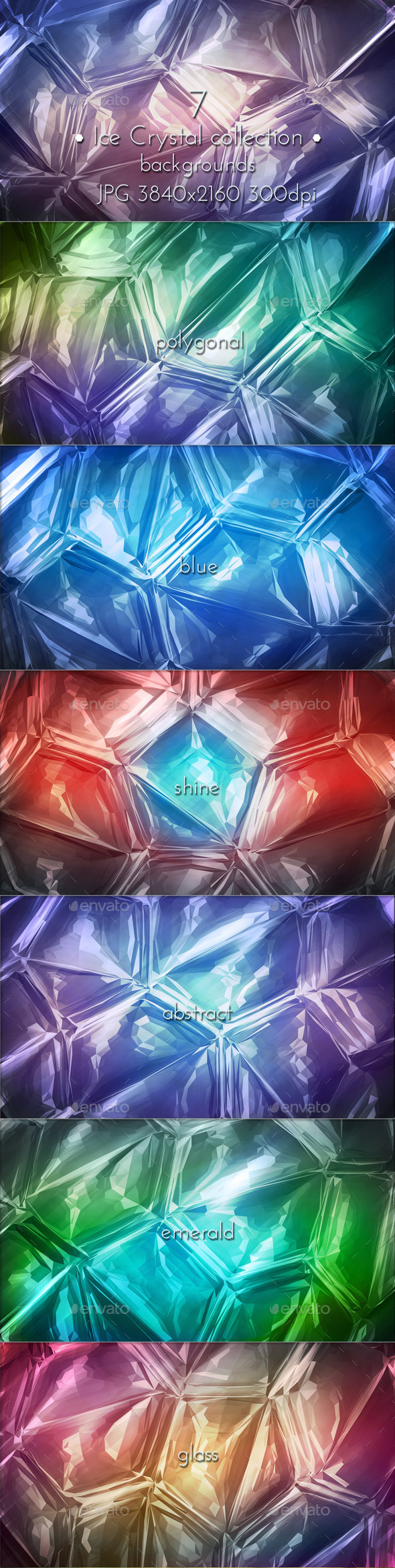 Ice Crystal Triangular - Miscellaneous Backgrounds