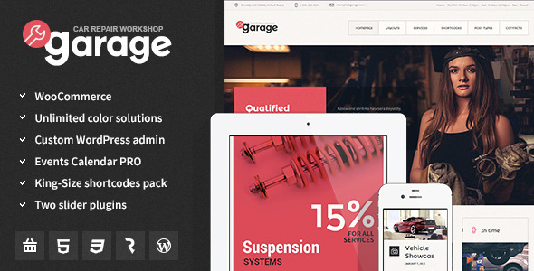 Garage - Auto Mechanic and Car Repair Workshop Theme - Miscellaneous WordPress
