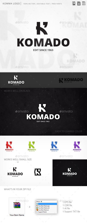 Komado Letter K Logo Template - Letters Logo Templates