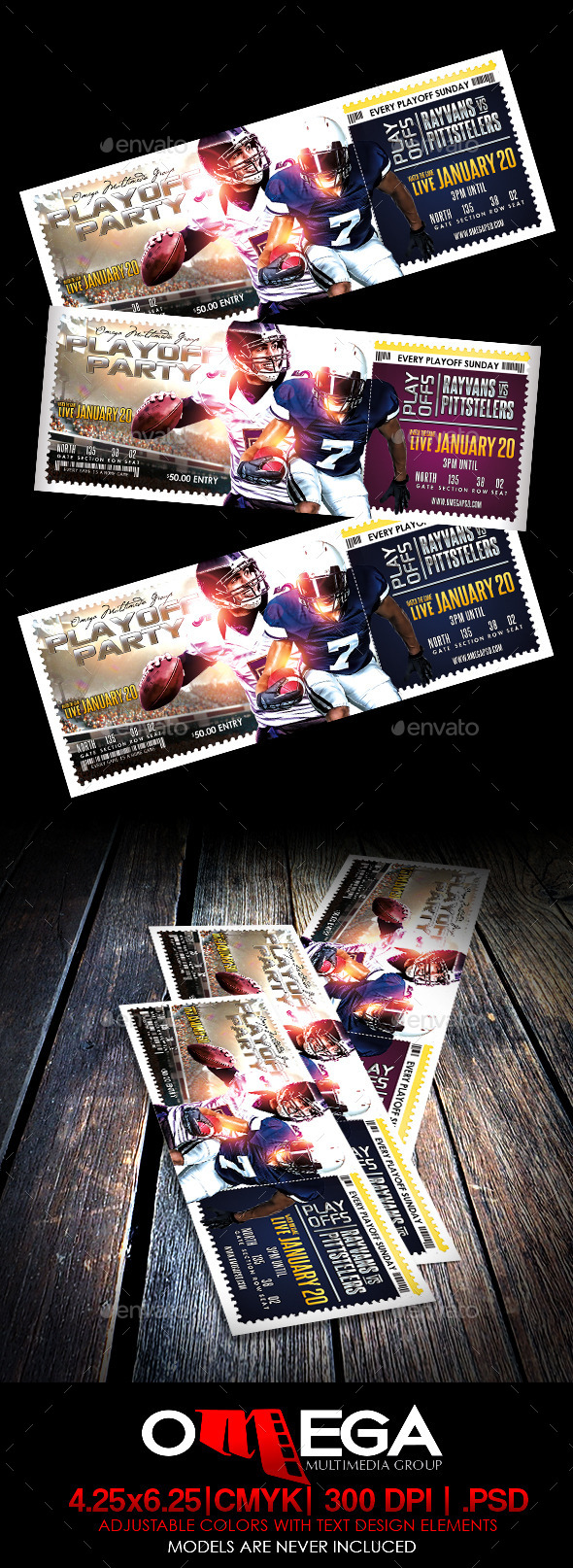 Playoff Party Ticket - Miscellaneous Print Templates