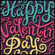 3 Happy Valentine's Day Hand Lettering - GraphicRiver Item for Sale