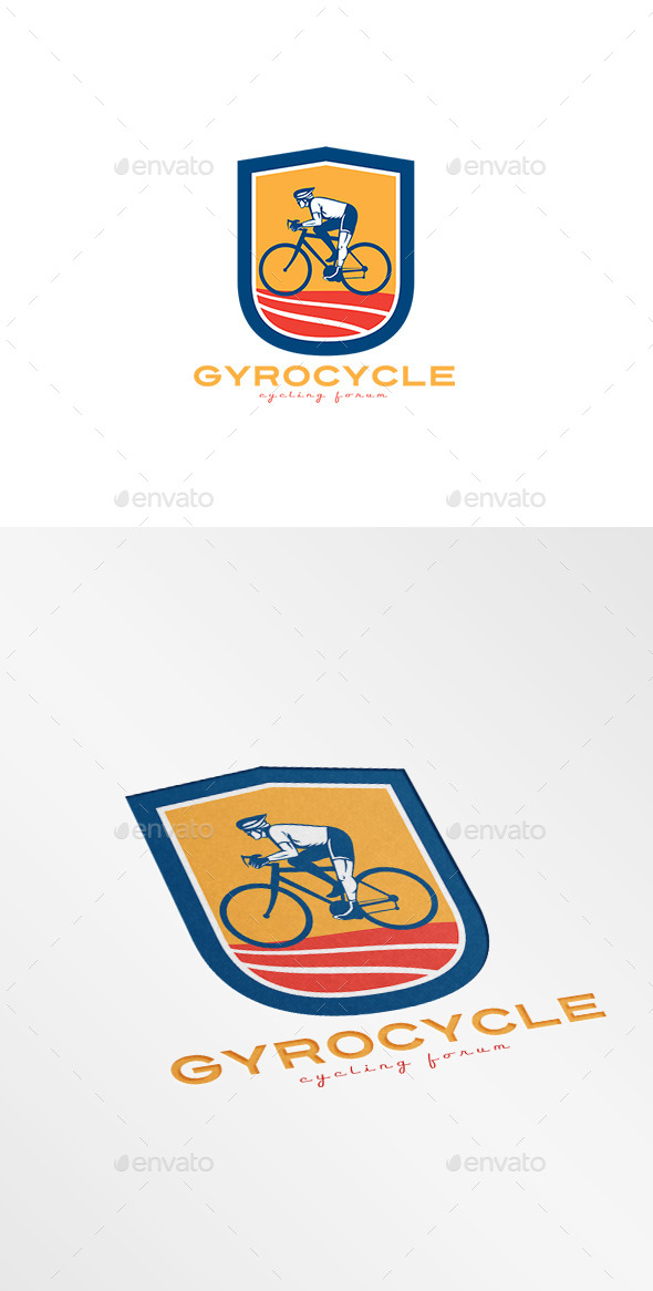 Gyro Cycles Cycling Forum Logo - Humans Logo Templates