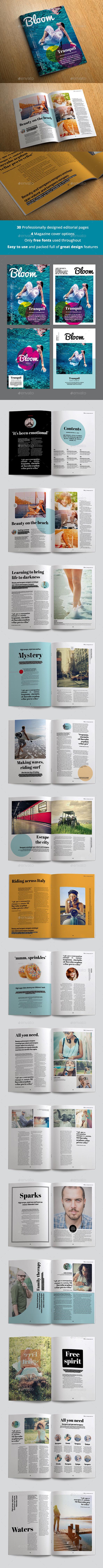 Bloom Magazine - Magazines Print Templates