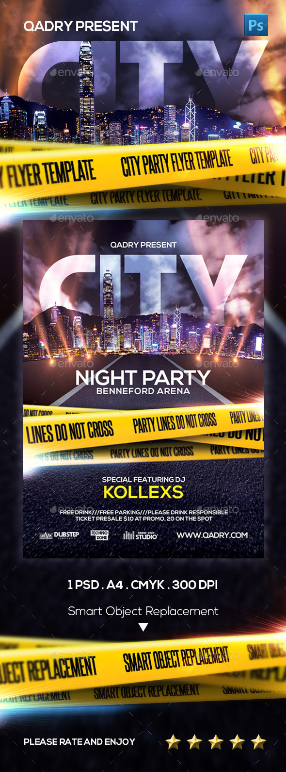 City Night Party Flyer Template - Events Flyers