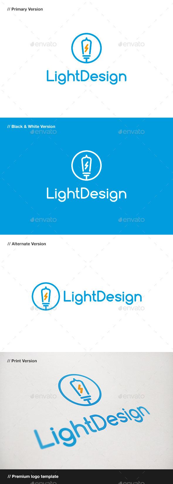 Light Design Logo - Objects Logo Templates