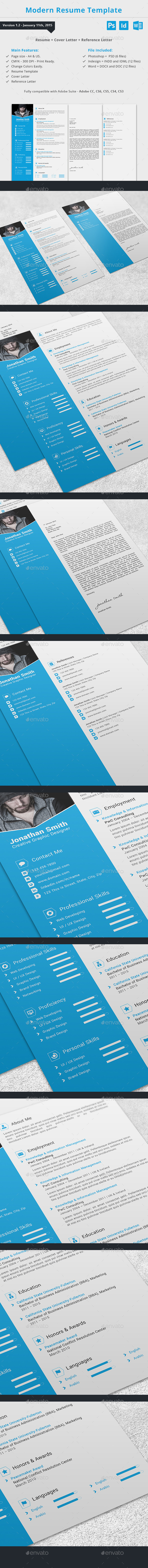 Modern Resume Template - Resumes Stationery