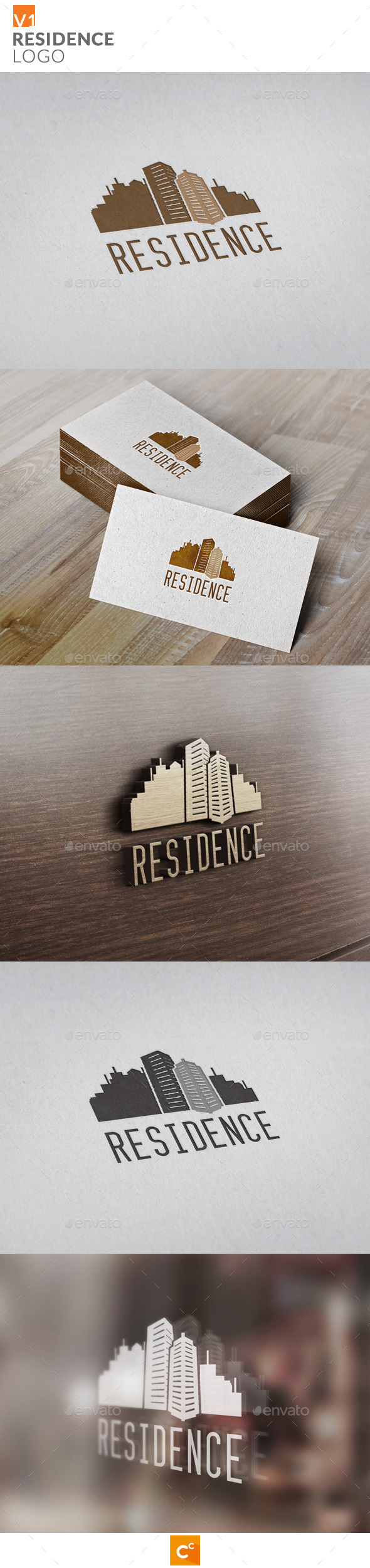 Residence Logo - Buildings Logo Templates