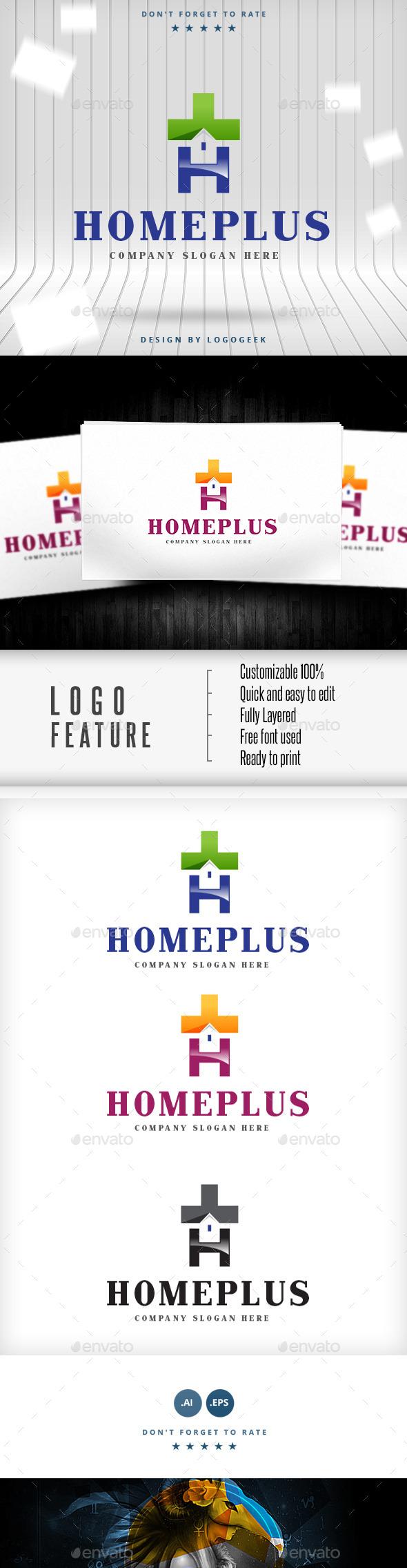 Homeplus Logo - Buildings Logo Templates