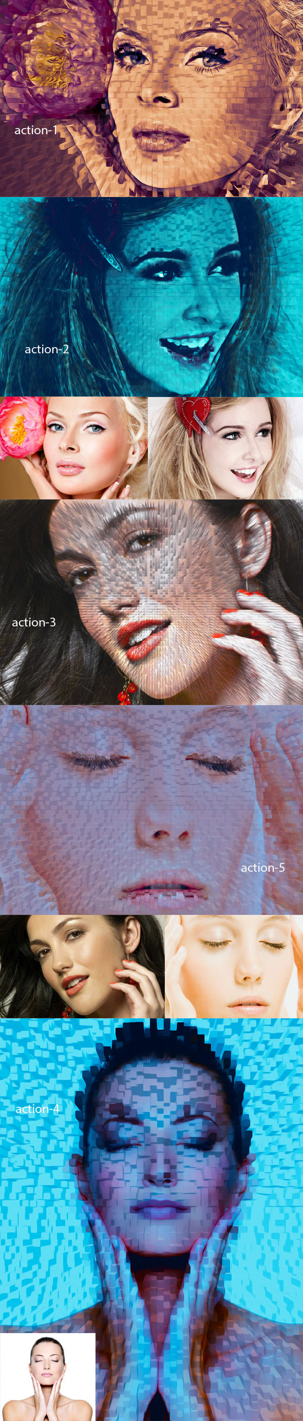 Pixel Art Action - Actions Photoshop