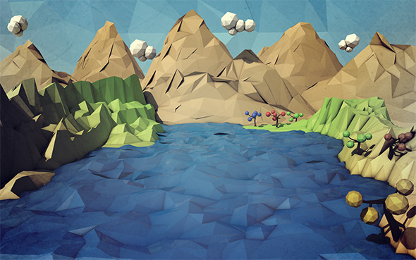 Low Poly Nature Design - 3DOcean Item for Sale