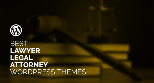 Best Lawyer Legal Attorney WordPress Themes