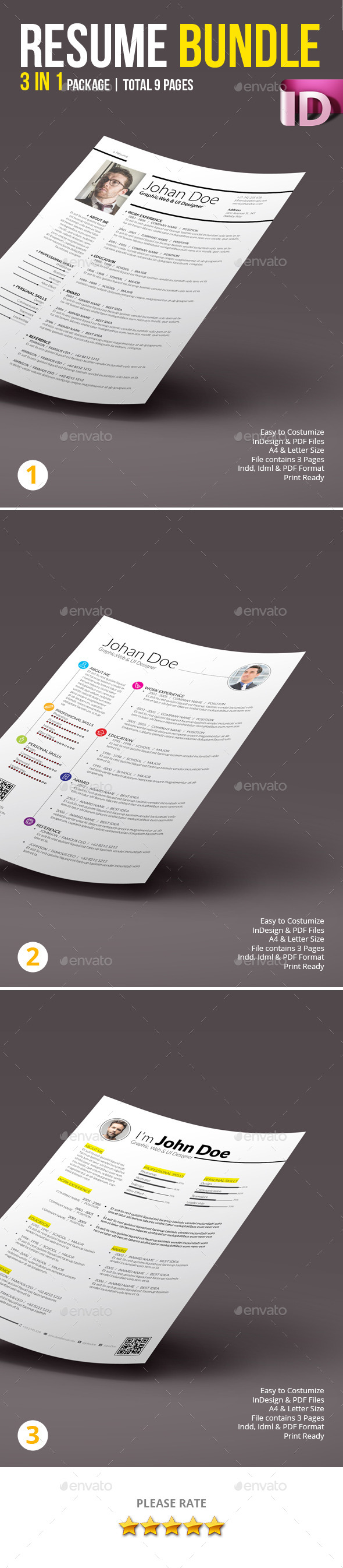 Resume Bundle 01 - Resumes Stationery