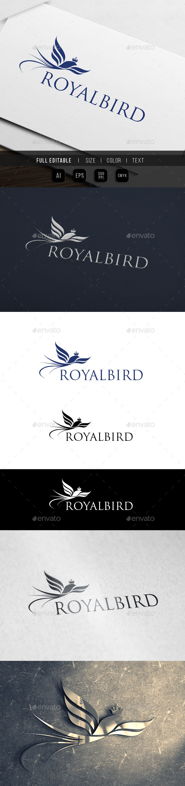 Royal Bird Paradise - Crests Logo Templates