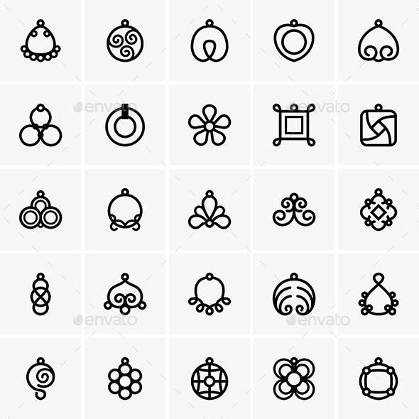 Bijouterie Icons - Decorative Symbols Decorative
