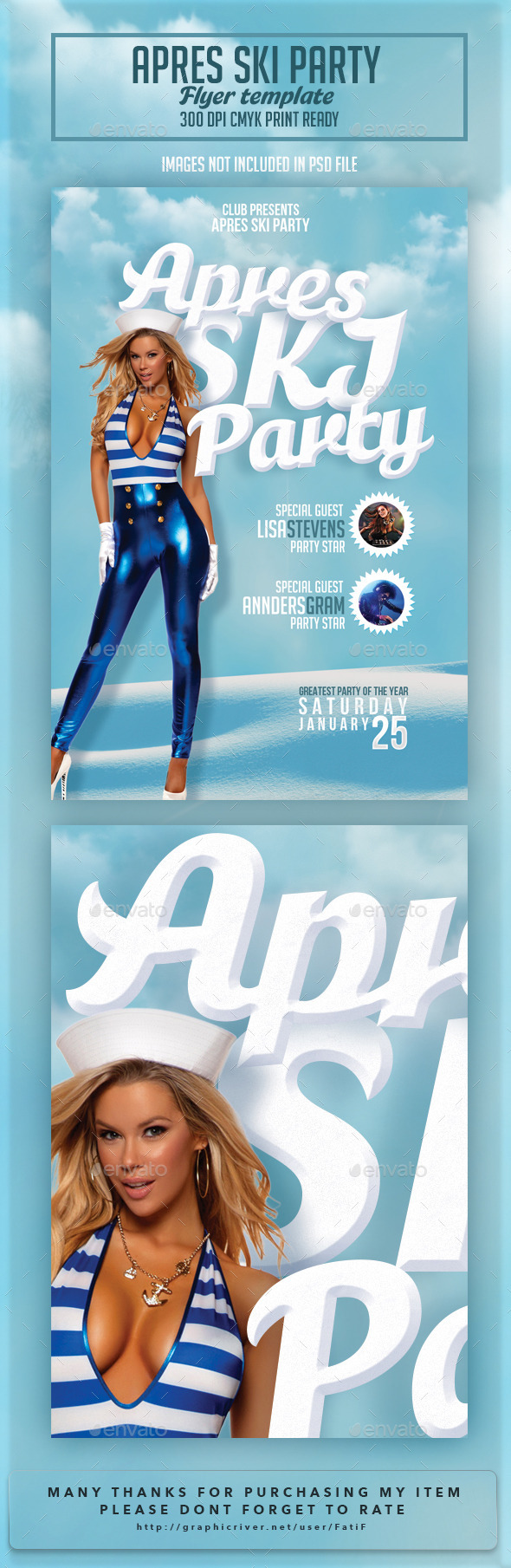 Apres Ski Party Flyer Template - Clubs & Parties Events