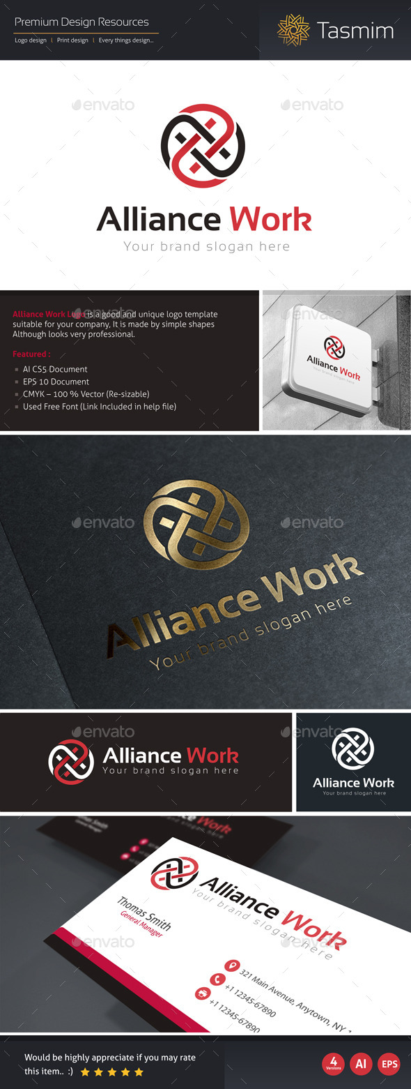 Alliance Work Logo Template - Abstract Logo Templates