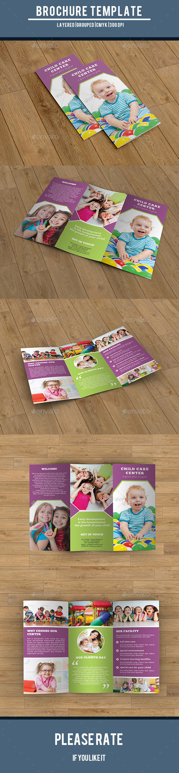 Child Care Center Trifold-V215 - Corporate Brochures