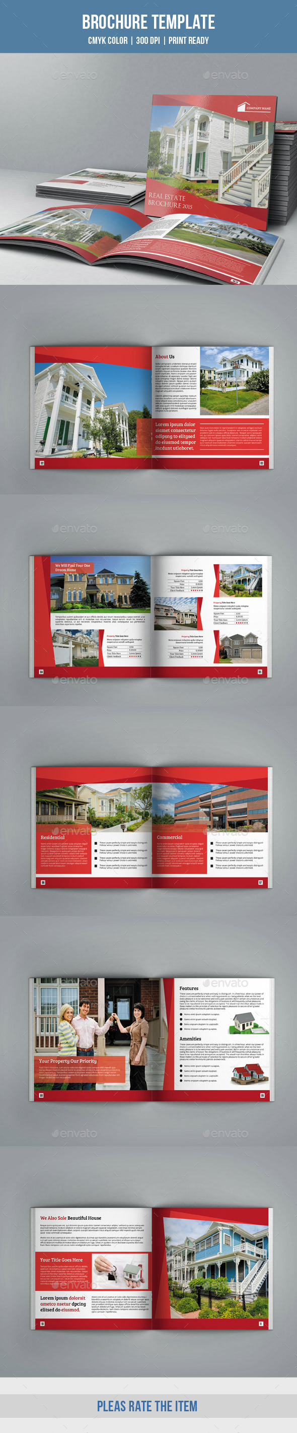 Square Bifold for Real Estate Company-V09 - Corporate Brochures