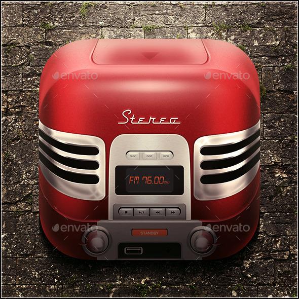 Radio icon - Technology Icons