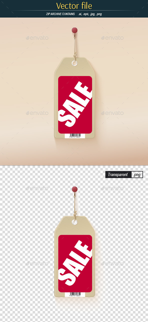 Sale Label Hanging on the Wall - Commercial / Shopping Conceptual