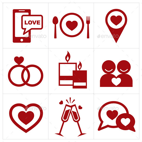 Valentines Icon Set - Valentines Seasons/Holidays