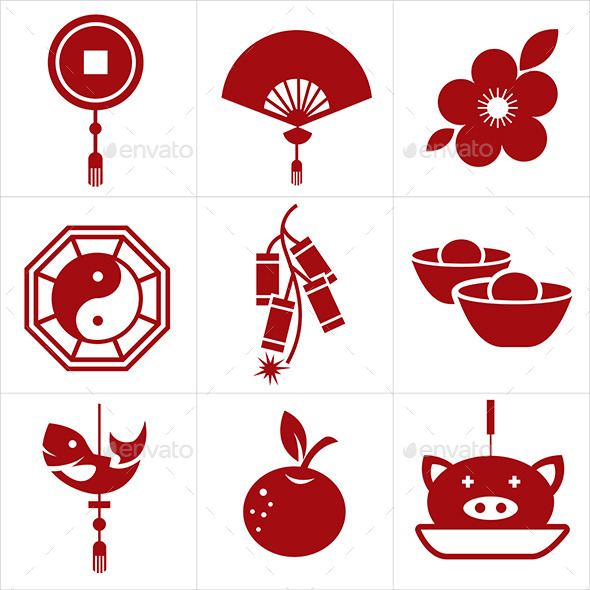 Chinese New Year Icon - Miscellaneous Seasons/Holidays