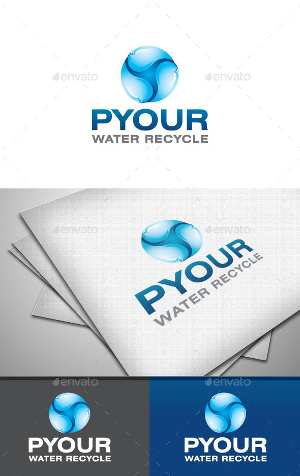 Pure Water - Nature Logo Templates