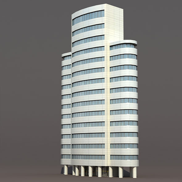 Skyscraper #4 Low Poly 3d Building - 3DOcean Item for Sale