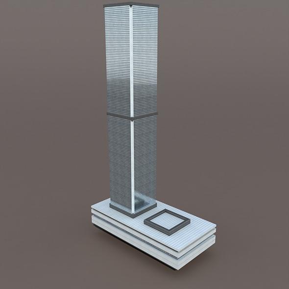 Skyscraper #3 Low Poly 3d Model - 3DOcean Item for Sale