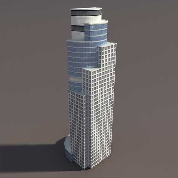 Skyscraper #2 Low Poly 3d Model - 3DOcean Item for Sale