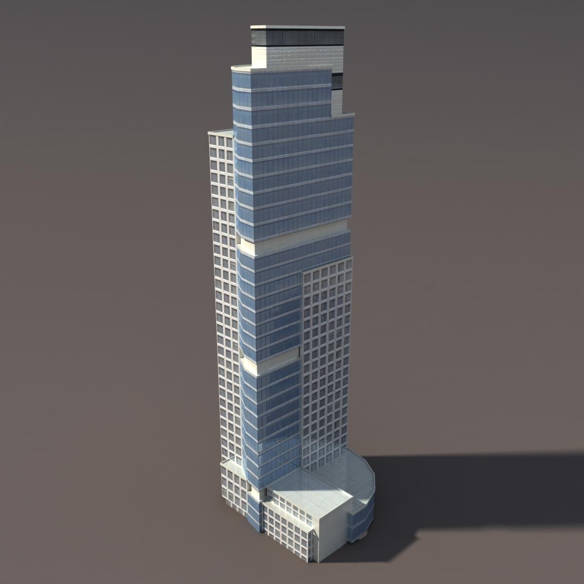 Skyscraper #2 Low Poly 3d Model .