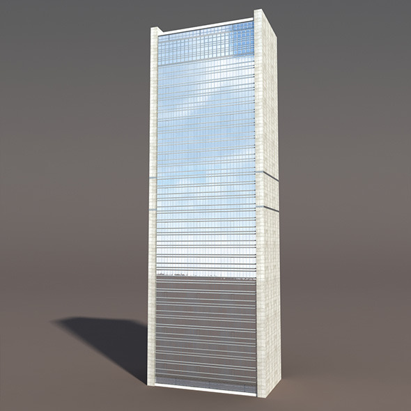 Skyscraper #1 Low poly 3d Model - 3DOcean Item for Sale
