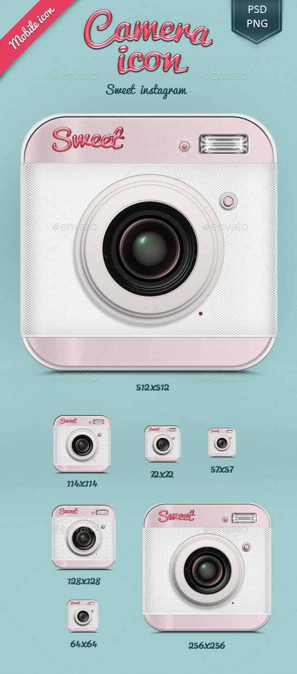 Sweet Camera icon - Miscellaneous Characters