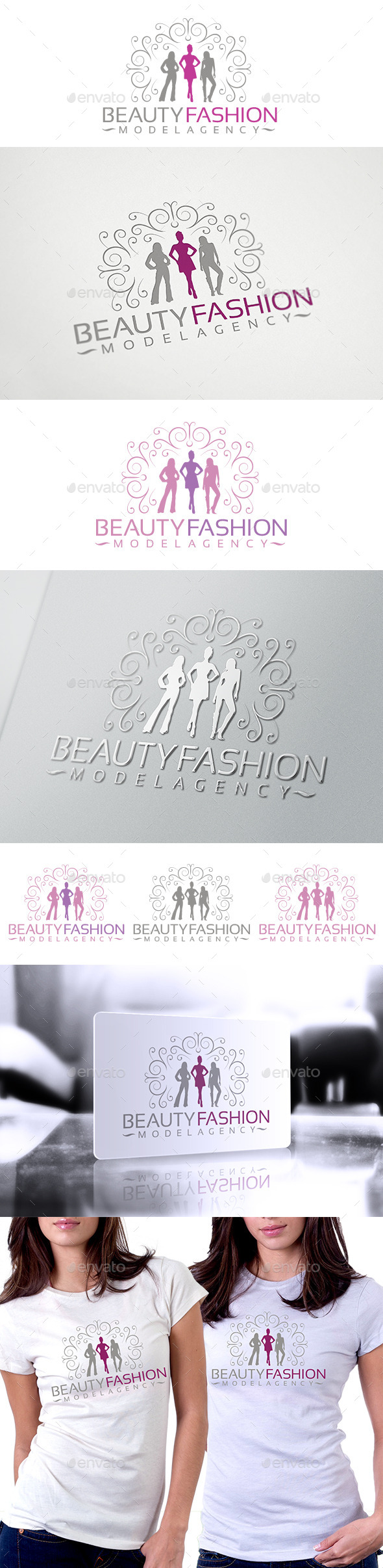 Beauty Fashion Logo - Humans Logo Templates