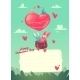 Two Rabbits in a Hot Air Balloon - GraphicRiver Item for Sale