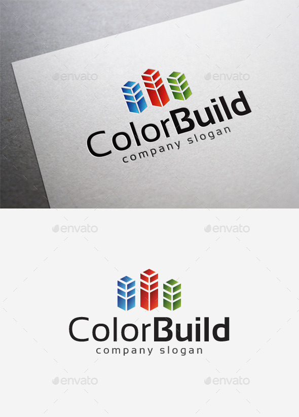 Color Build Logo - Objects Logo Templates