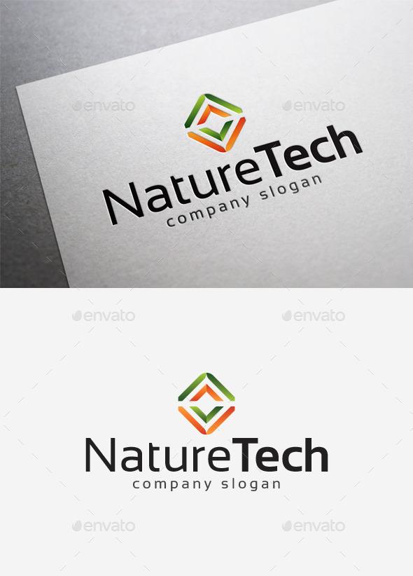 Nature Tech Logo - Abstract Logo Templates