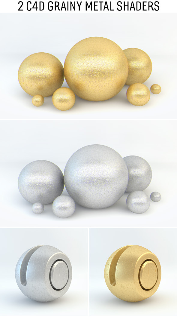 Grainy Metal Shaders for C4D - 3DOcean Item for Sale