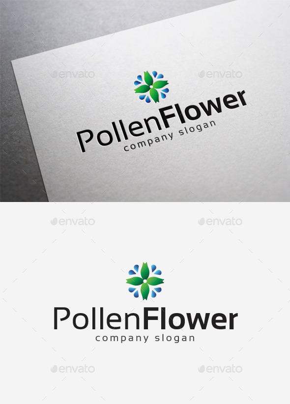 Pollen Flower Logo - Nature Logo Templates