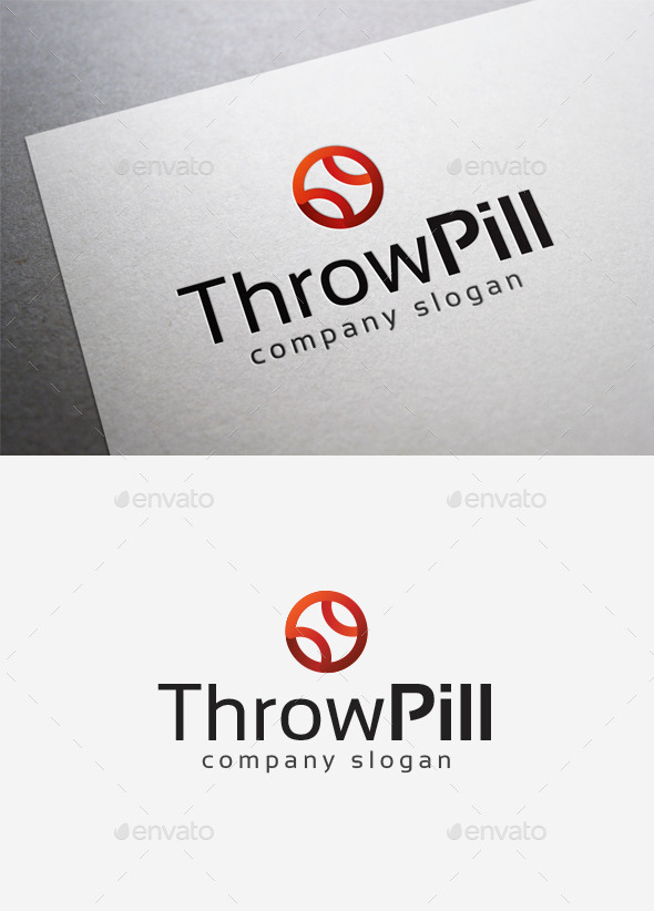Throw Pill Logo - Objects Logo Templates