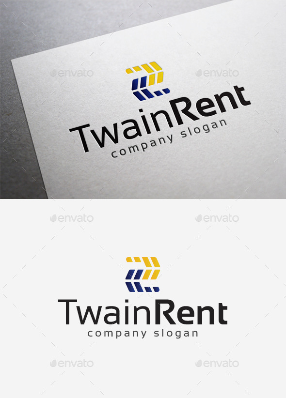 Twain Rent Logo - Numbers Logo Templates