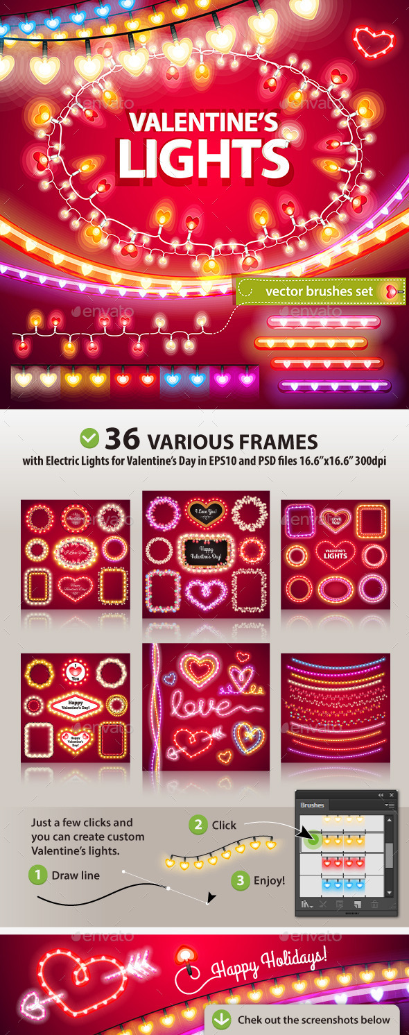 Valentines Lights Decorations Set - Valentines Seasons/Holidays