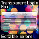 Transparent Login Box - GraphicRiver Item for Sale